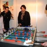beer and table football - nice combination